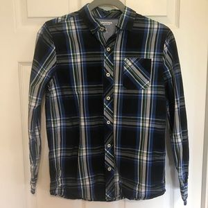 Boys Arizona plaid button down- size 14/16